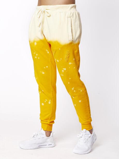Acid Wash Sweatpant Sunrise, Yellow, large image number 0