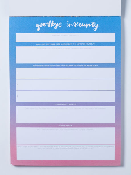 Goodbye Insecurity Notepad, Blue, large image number 1