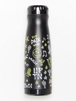 Texas Water Bottle Black, Black, large
