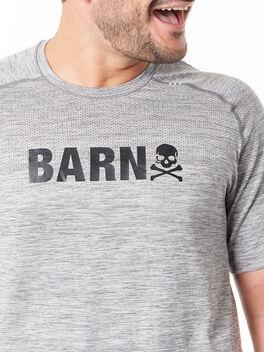 Metal Vent Tech Shirt Barn Slate/White, Slate/White, large