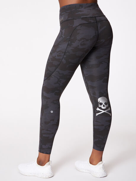 "Fast And Free High-Rise Legging 25"" Incognito Camo, Incognito Camo Multi Grey, large image number 2"