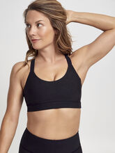 Glitter Sports Bra, Black, large