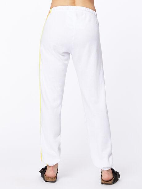 Exclusive 5 Stripe Sweatpant White/Rainbow, White, large image number 3
