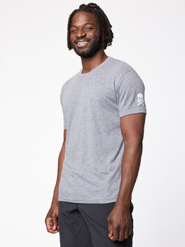 Men's SS Tri-Blend Crew, Premium Heather Grey, large
