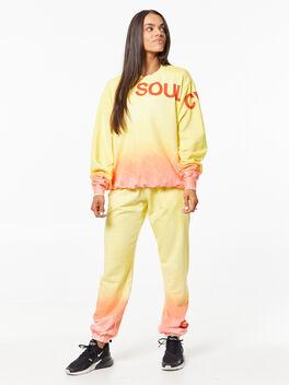 SOUL Green Recycled Cotton Derek Sweatshirt Orange/Yellow, Yellow, large