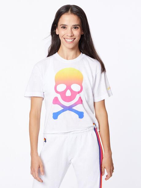 Exclusive Boyfriend Tee White/Rainbow Hamptons, White, large image number 1