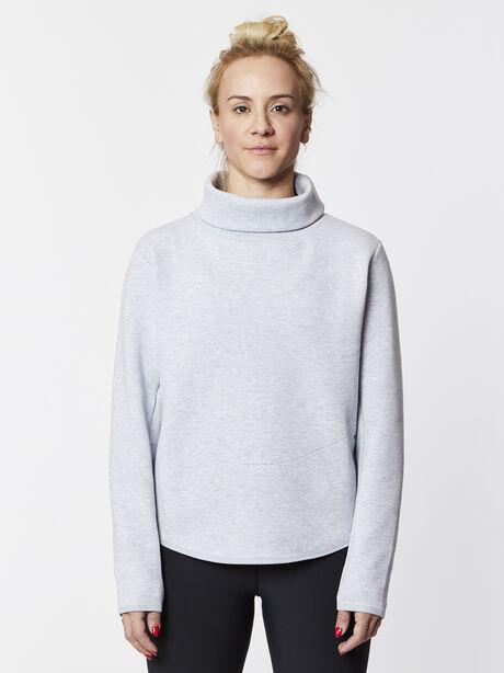 Therma Long Sleeve Training Top Grey, White/Black/Wolf Grey, large image number 0
