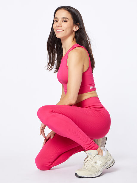 One By One High-Rise Legging Punch Pink, Hot Pink, large image number 0