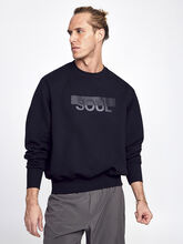Derek Oil Spill Crew Neck, Black, large