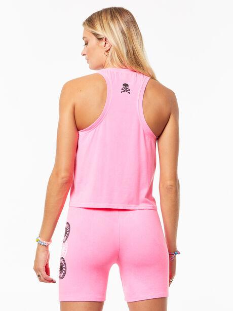 Tara Crop Tank Hot Pink, Hot Pink, large image number 2