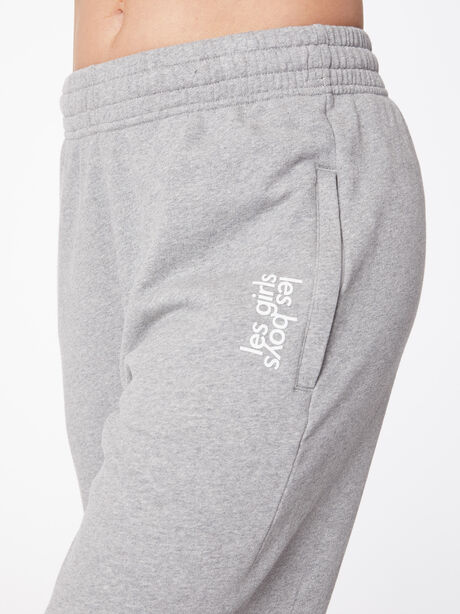 Loose Fit Zipper Pocket Sweatpant Grey Marl, Grey, large image number 1
