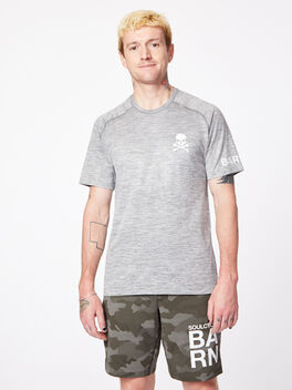 Metal Vent Tech Shirt Slate/White Barn, Slate/White, large