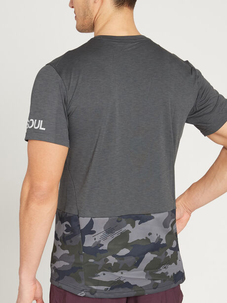 Short-Sleeve Hyperdry Camo, Anthracite/White, large image number 2