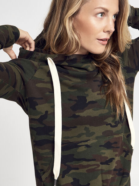 NSF Camo Lisse Hoodie, Green/Camo, large image number 1