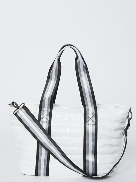 Junior Wingman Bag-White Patent, White, large image number 3