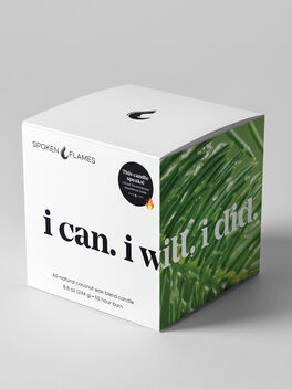 I Can. I Will. I Did. Candle, Clear, large