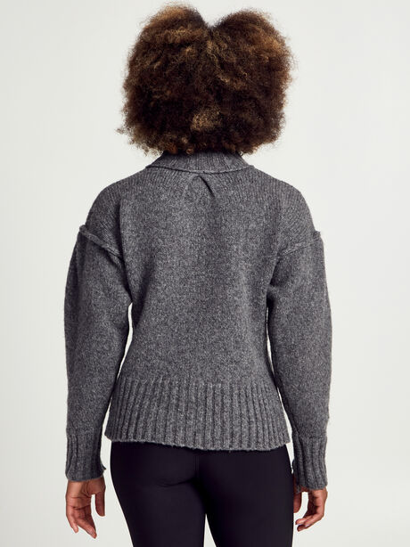 Charcoal Kori Turtleneck Sweater, Charcoal, large image number 2