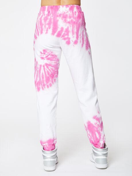 Aloha Tie-Dye Sweatpant Pink, White/Pink, large image number 2