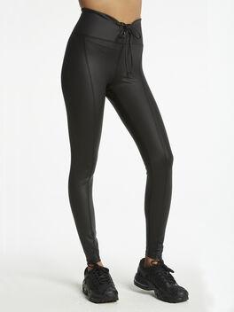 Gloss Football Legging Black, Black, large