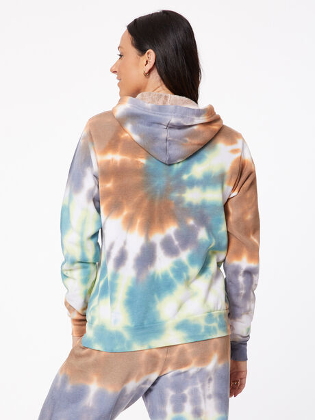 Tie-Dye Billie Hoodie Forest/Steel/Golden Brown, Tie Dye, large image number 2