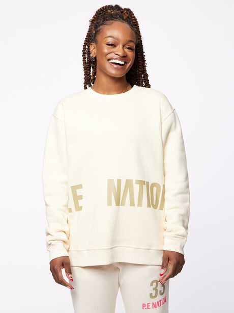 Triple Double Crewneck Sweatshirt Off-White, Off White, large image number 1