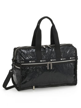 Exclusive Deluxe Medium Weekender Bag, Black, large