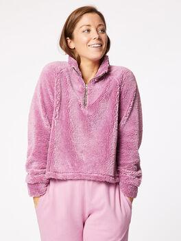 Sherpa Vail Crop Pullover Desert Pink, Pink, large