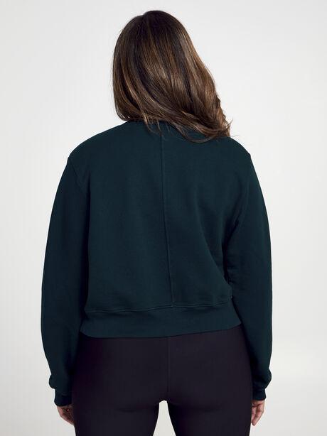 Solid Cropped Milan, Green, large image number 1