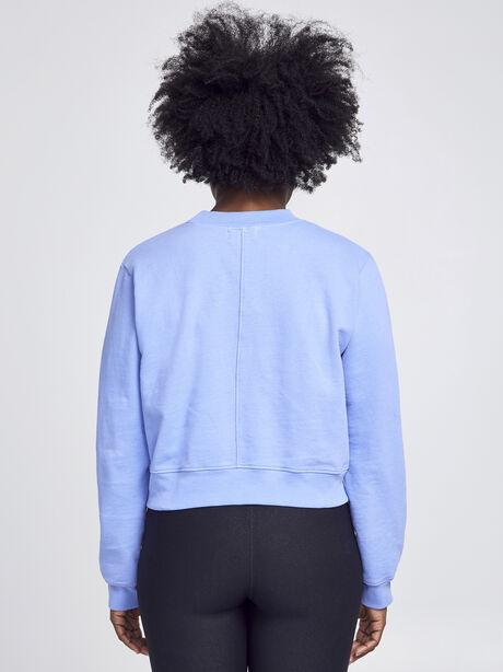 Milan Solid Cropped Sweatshirt, Purple, large image number 2