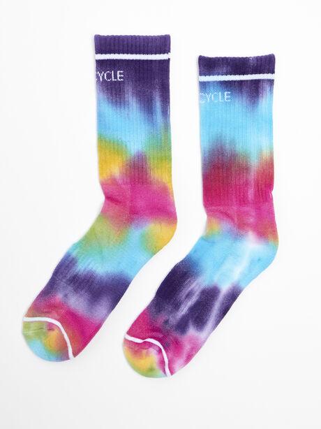 Tie-Dye Mid-Calf Socks, Tie Dye, large image number 0