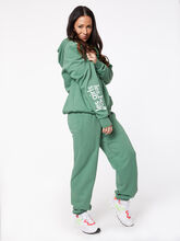 Oversized Hoodie Myrtle Green, Green, large