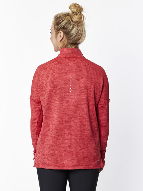 Therma Sphere Element Half Zip, Tough Red/Htr/Lt Fusion Red, large image number 2