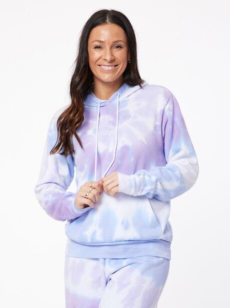Tie-Dye Billie Hoodie Ice/Lavender, BLUE/PURPLE, large image number 2