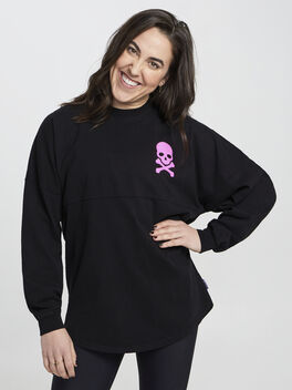 Black/Pink Spirit Jersey, Black, large