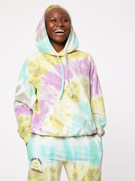 Boyfriend Hoodie Rainbow Tie-Dye, Tie Dye, large image number 5
