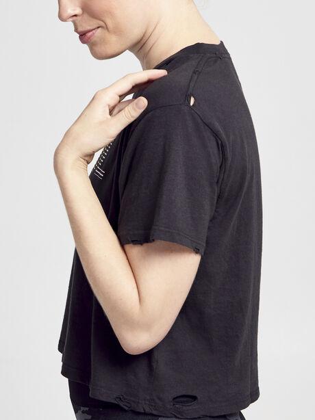 Short Sleeve Distressed Shirt, Vintage Black, large image number 3