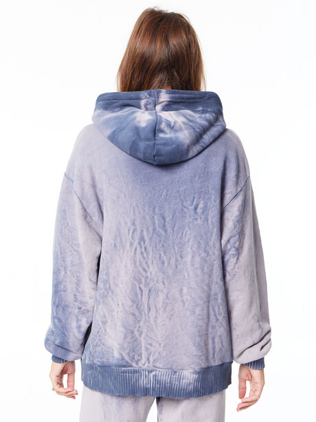 Oversized Brooklyn Hoodie Navy Mix, Navy, large image number 4