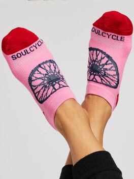 Color Sock Red/Pink/Peach, Multi Color, large