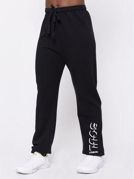 London Baggy Sweatpant, Black, large