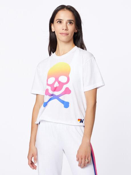Exclusive Boyfriend Tee White/Rainbow, White, large image number 0