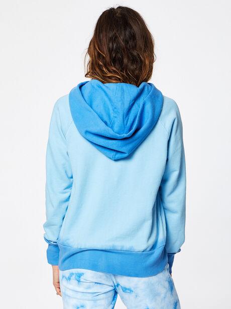 Boyfriend Dip-Dye Hoodie Blue, Blue, large image number 2