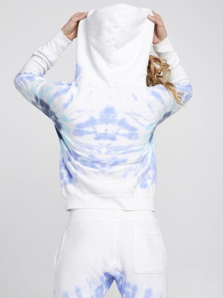 Exclusive Lissie Pullover Hoodie Sweatshirt, Blue Tied, large image number 2