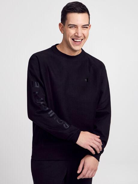 Crewneck Tonal Sweatshirt, Black, large image number 0