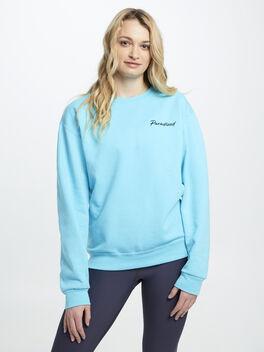 Geo P Crewneck Sweatshirt Teal, Teal, large