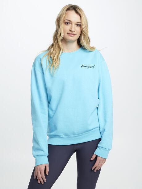 Geo P Crewneck Sweatshirt Teal, Teal, large image number 0