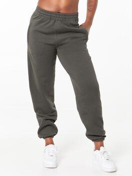 Loose Fit Track Pants Peat, Dark Olive, large