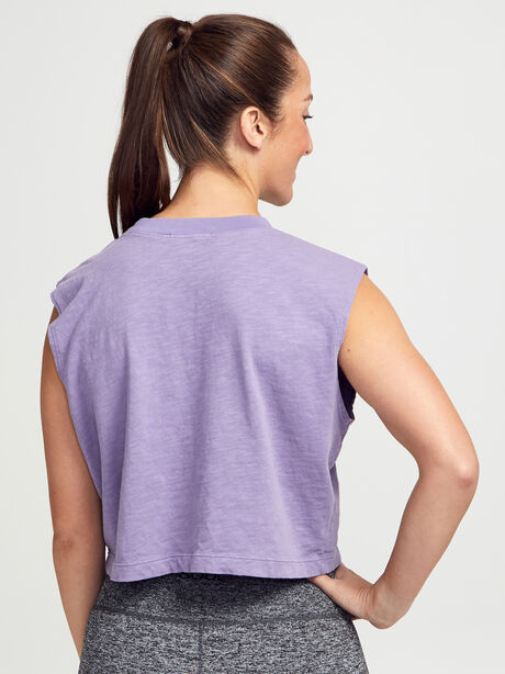 Tokyo Cropped Lilac Tank Top, Vintage Lilac, large image number 1