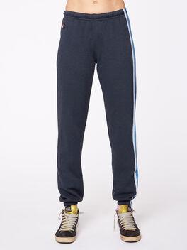 5 Stripe Sweatpant Charcoal, Blue And Grey Stripe, large