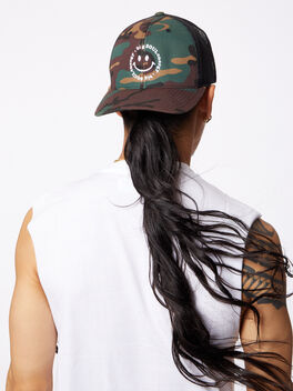 Big Soul Energy Trucker Hat Camo, Green/Camo, large