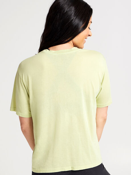 Lime Boxy Sunny Tee, Green, large image number 2